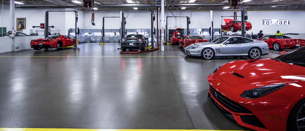 Ferrari Service Bay