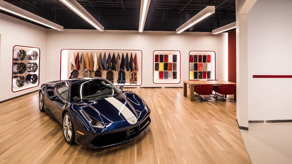 Ferrari Wheels, Upholstery, Colors on Display