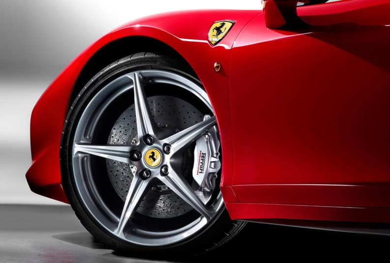 Red Ferrari 458 Italia Wheel and Badging