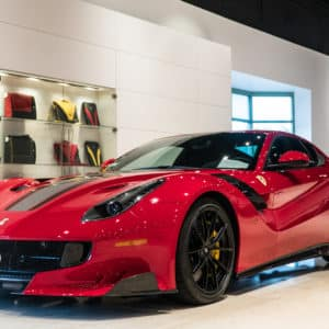 Red Ferrari In Showroom