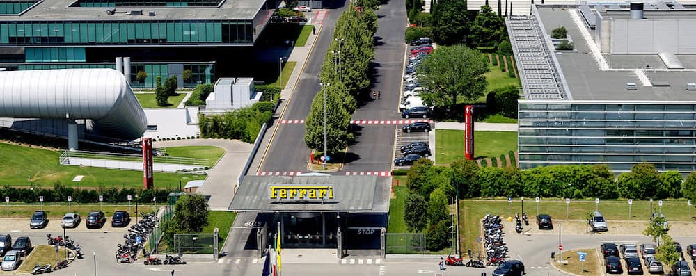 Exterior of Ferrari Factory in Maranello, Italy