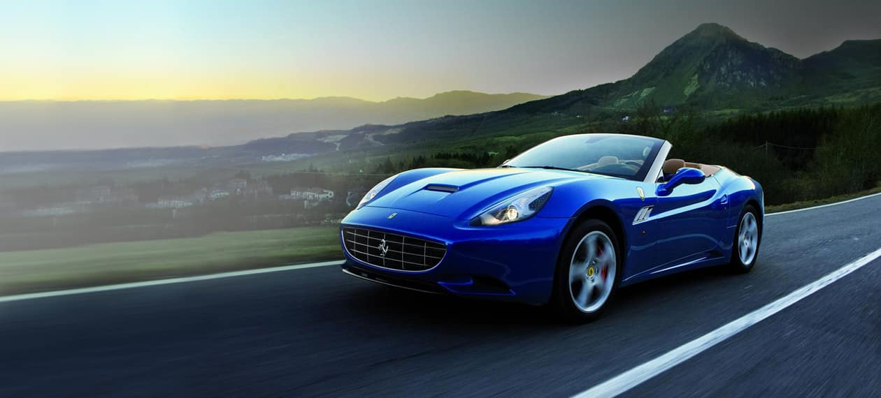 Blue Ferrari California