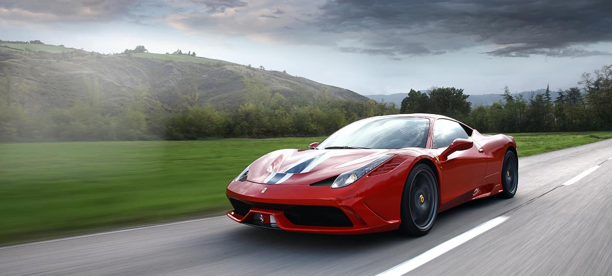 Ferrari 458 Speciale on Highway