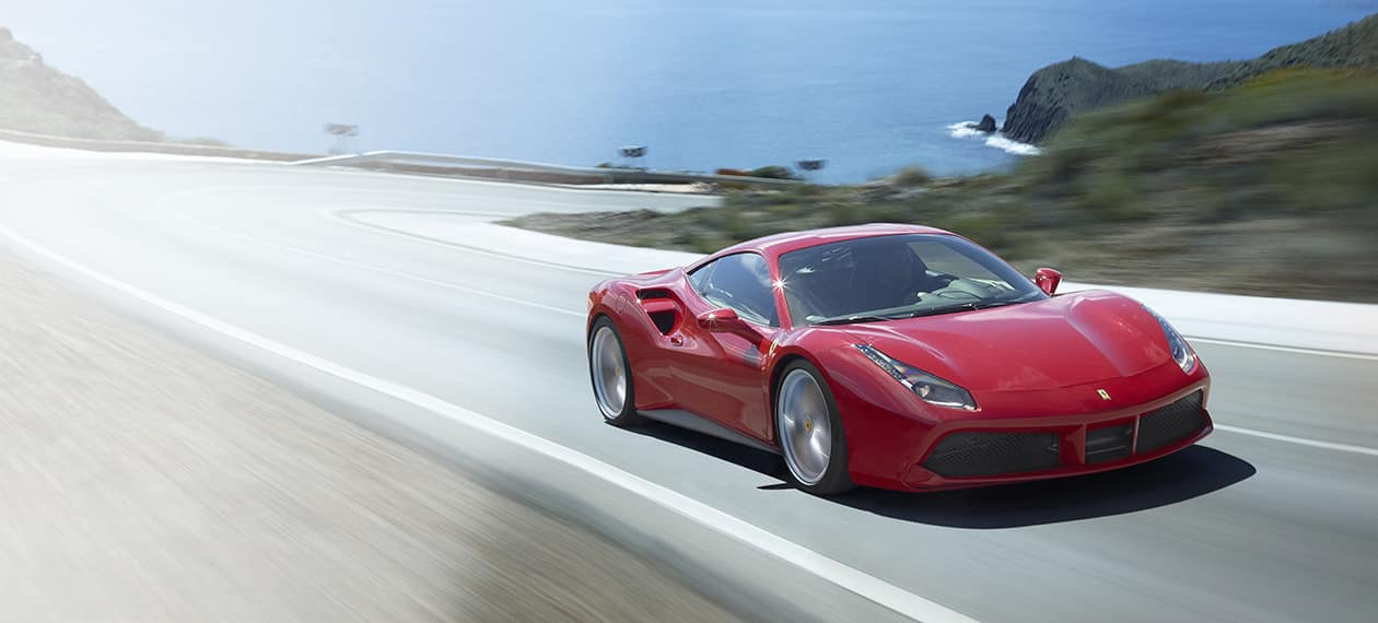 Ferrari 488 GTB on Highway