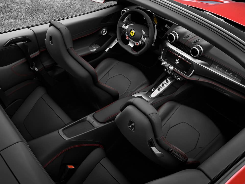 Ferrari Portofino Interior from Above