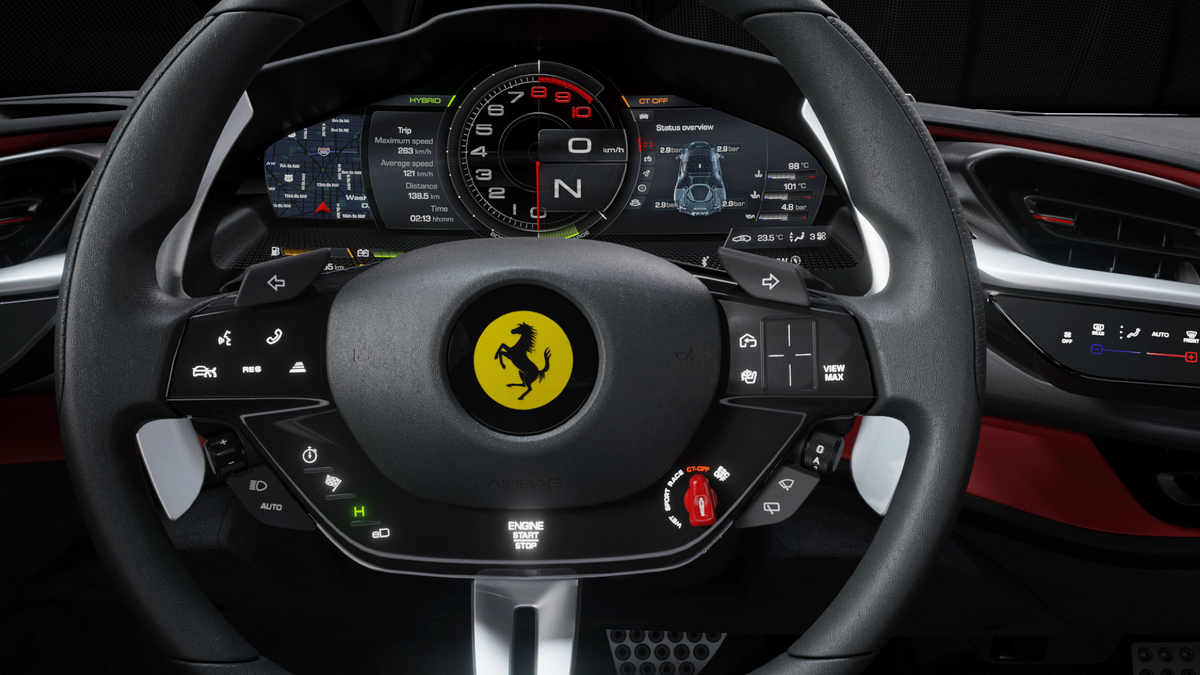 Ferrari SF90 Stradale Steering Wheel Large