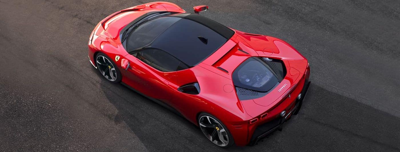 Ferrari SF90 Stradale from Above