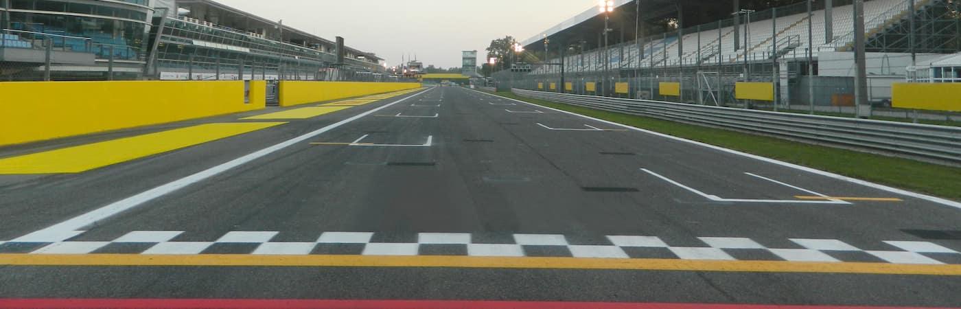 Vacant Car Race Track