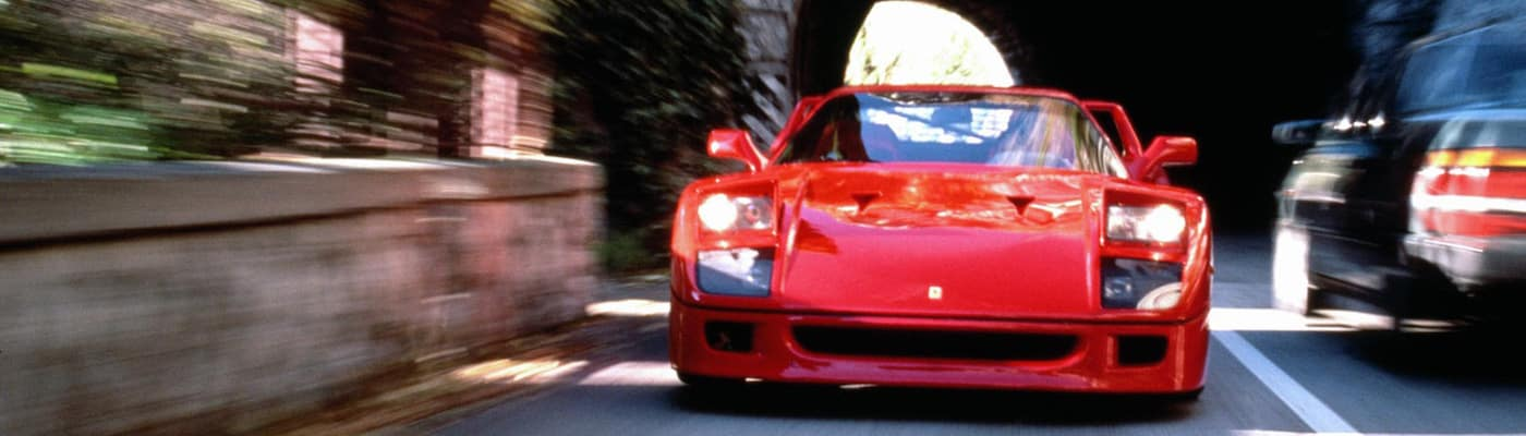Ferrari F40 Blurred by Speed
