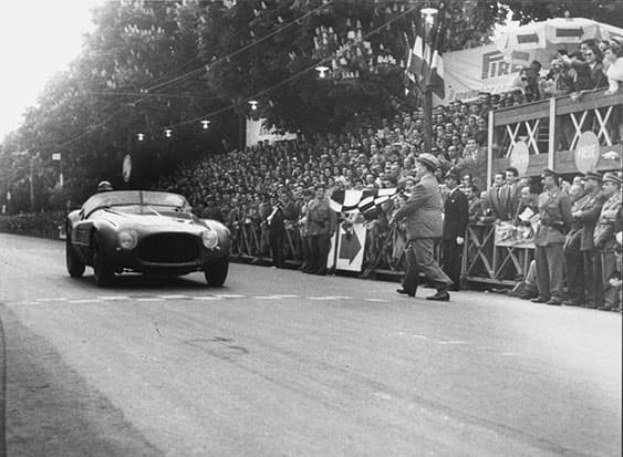 Classic Ferrari on Race Track