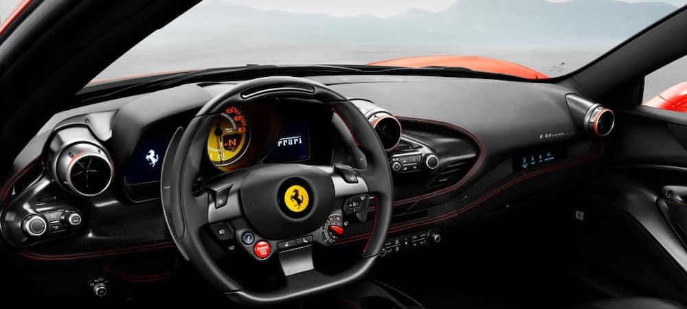 Ferrari F8 Tributo Cabin from Driver's Seat