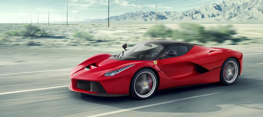 Red Ferrari La Ferrari in Desert