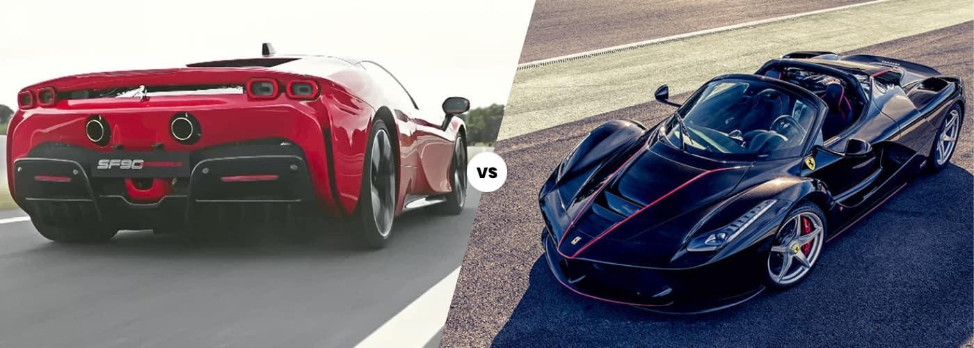 SF90 vs. LaFerrari