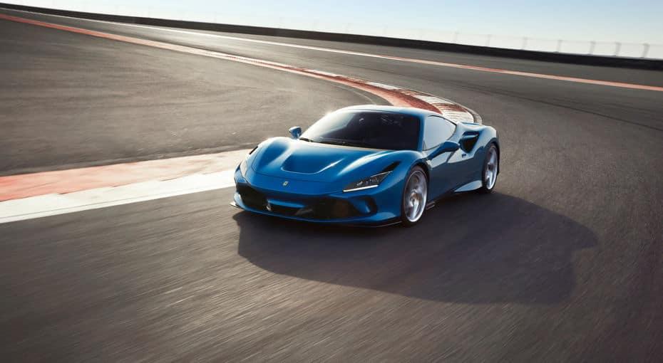 Blue Ferrari F8 Tributo