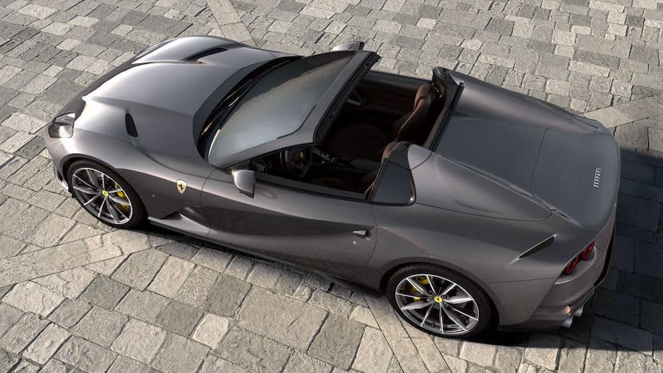 Ferrari 812 GTS Above Rear