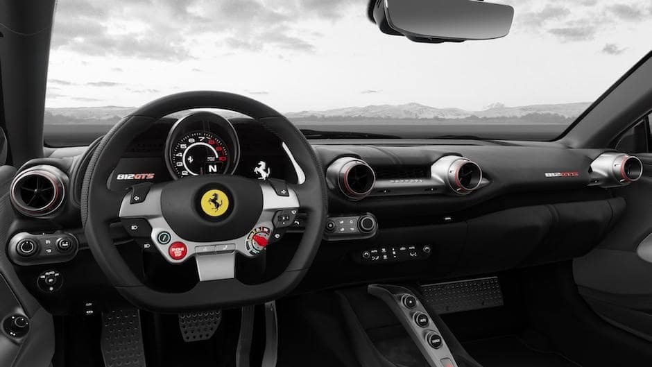 Ferrari 812 GTS Steering Wheel