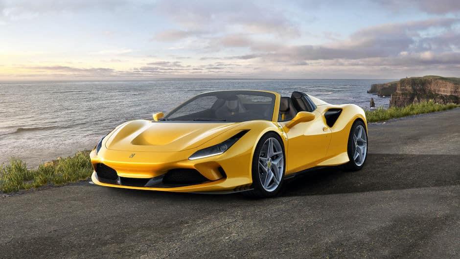 Ferrari F8 Spider on Coast
