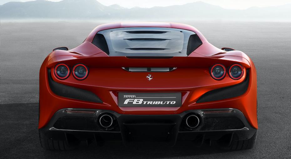 Ferrari F8 Tributo Exhaust Crop