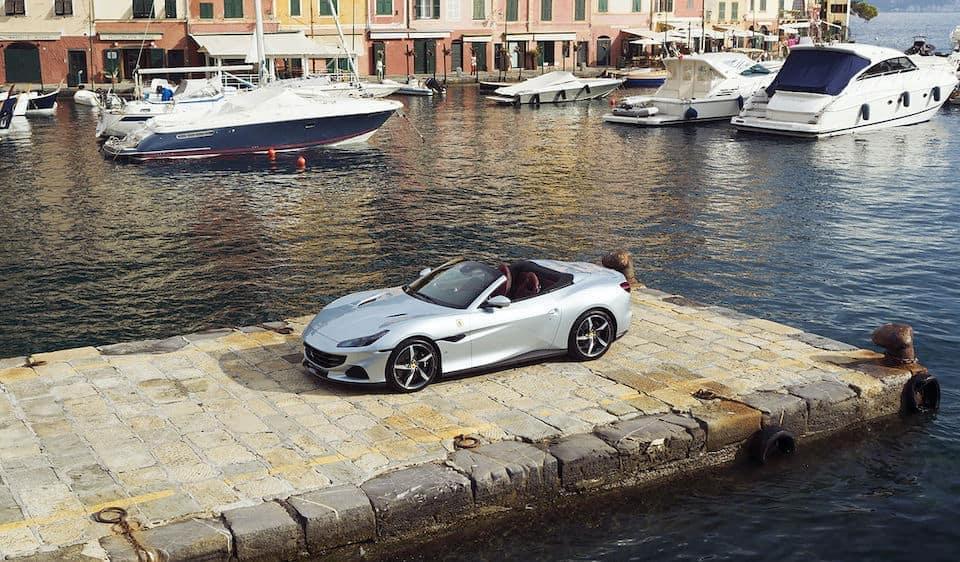 Ferrari Portofino M with Boats Crop