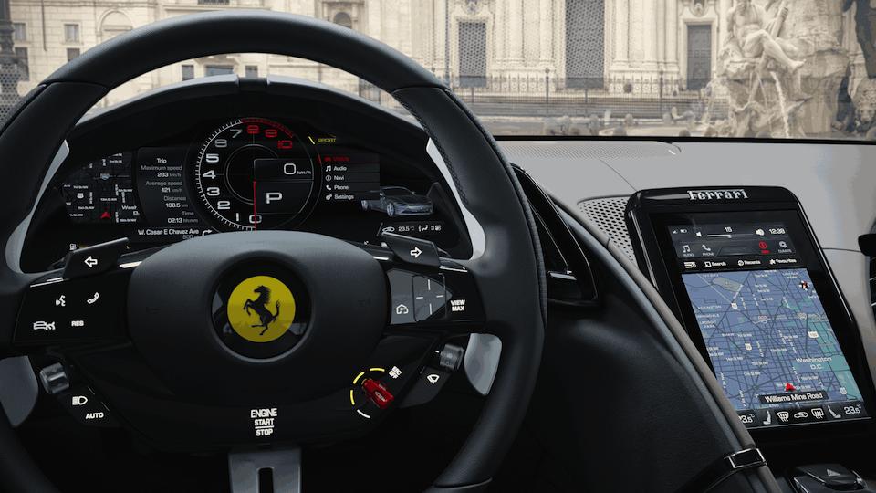 Ferrari Roma Driver's Seat Closeup
