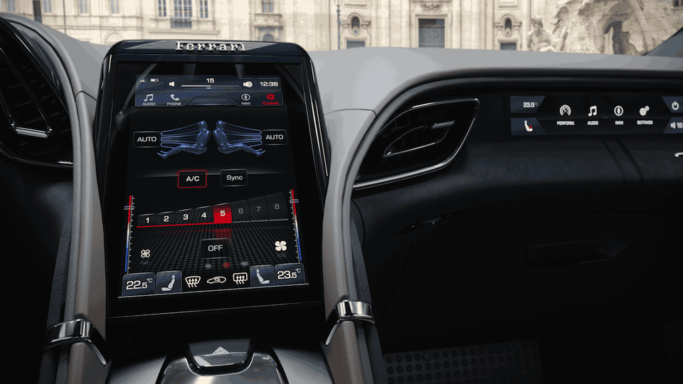 Ferrari Roma Interior Touchscreens