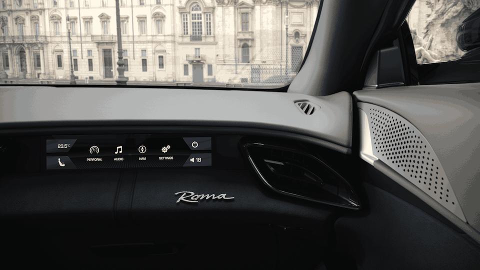 Ferrari Roma Passenger Dash