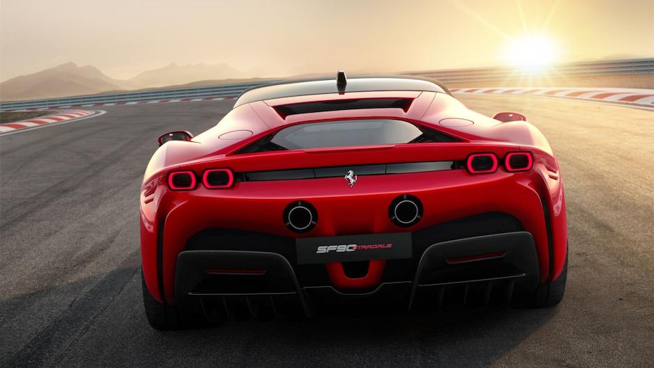 Ferrari SF90 Stradale Rear Crop