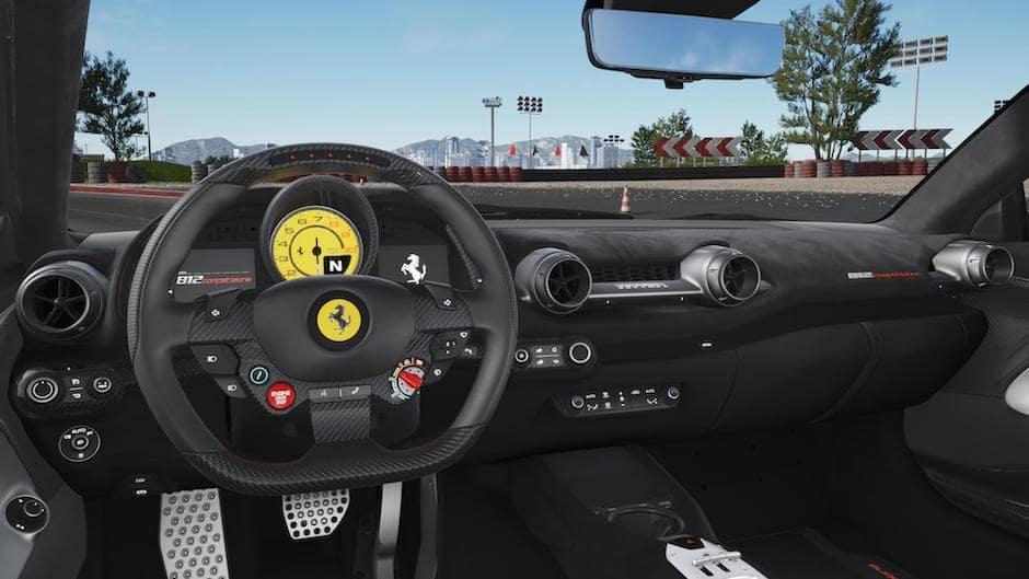 Ferrari 812 Competizione A Steering and Dash