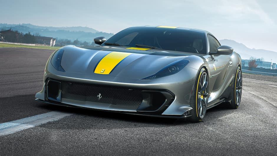 Ferrari 812 Competizione Parked on Track