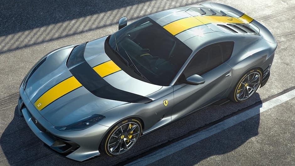 Ferrari 812 Competizione from Above Front