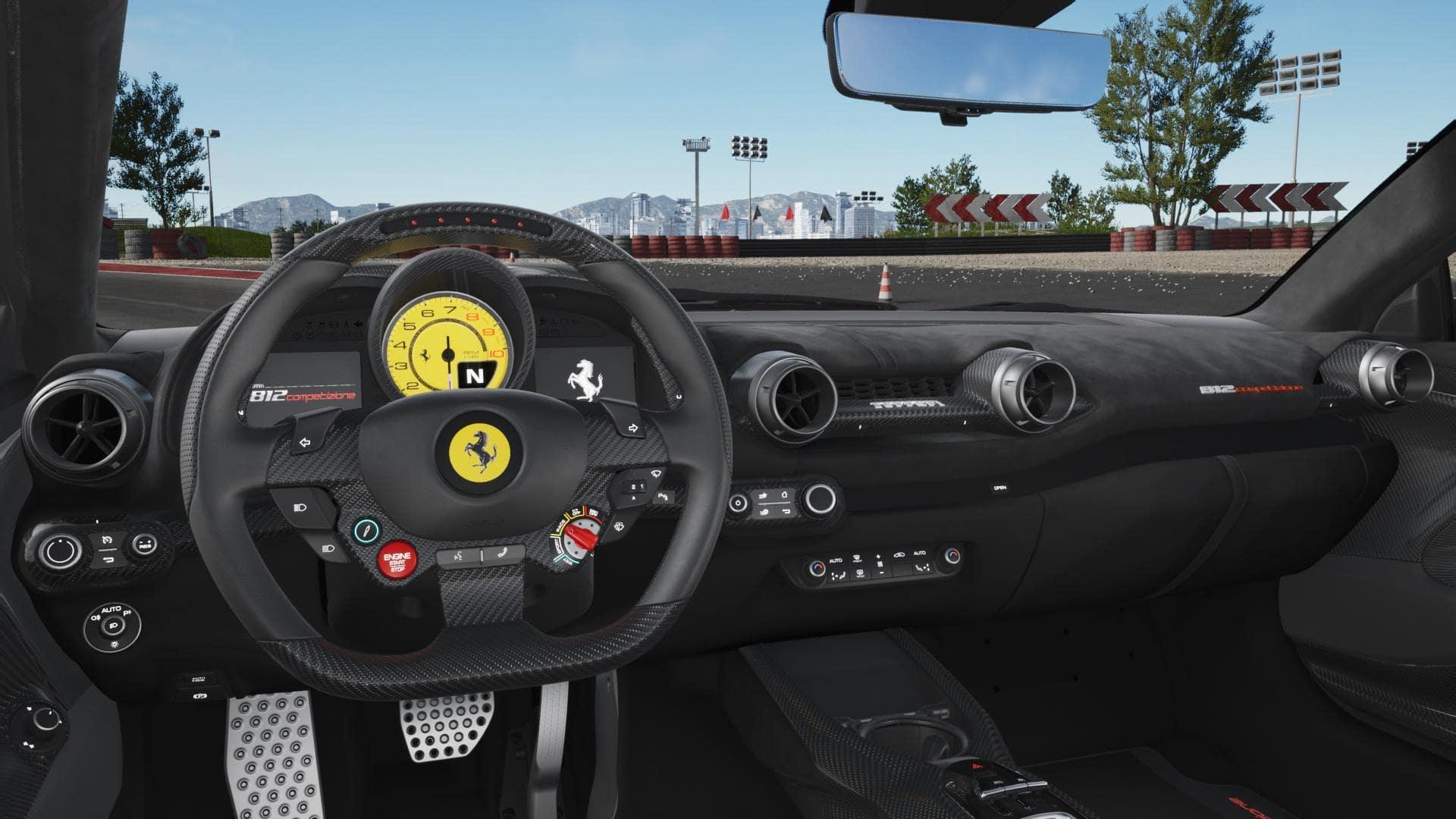 Ferrari 812 Ferrari Competizione Steering and Dash