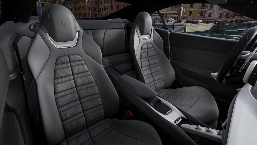 Ferrari Portofino M Charcoal Interior Daytona Seating