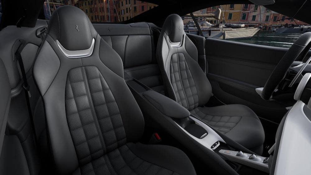 Ferrari Portofino M Charcoal Interior Squared Pattern Seating