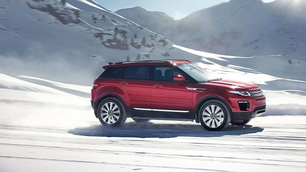 2019 Range Rover Evoque red exterior