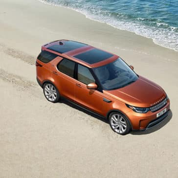 2019 Land Rover Discovery on the beach