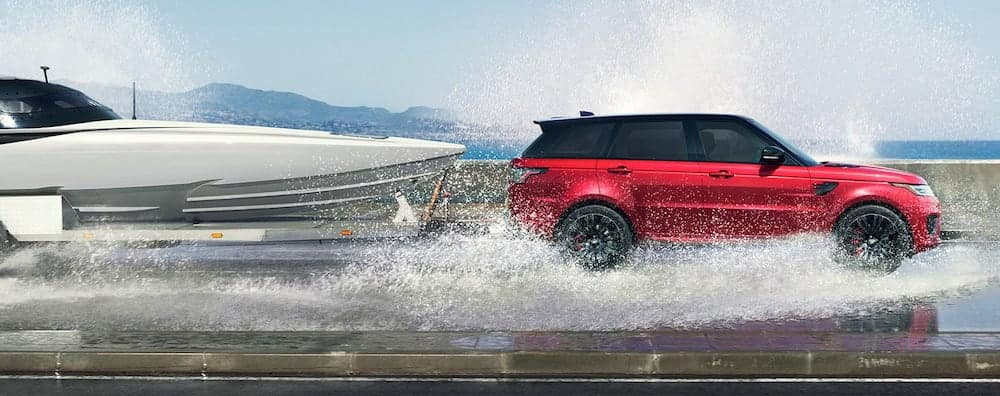 2019 Range Rover Sport towing a boat