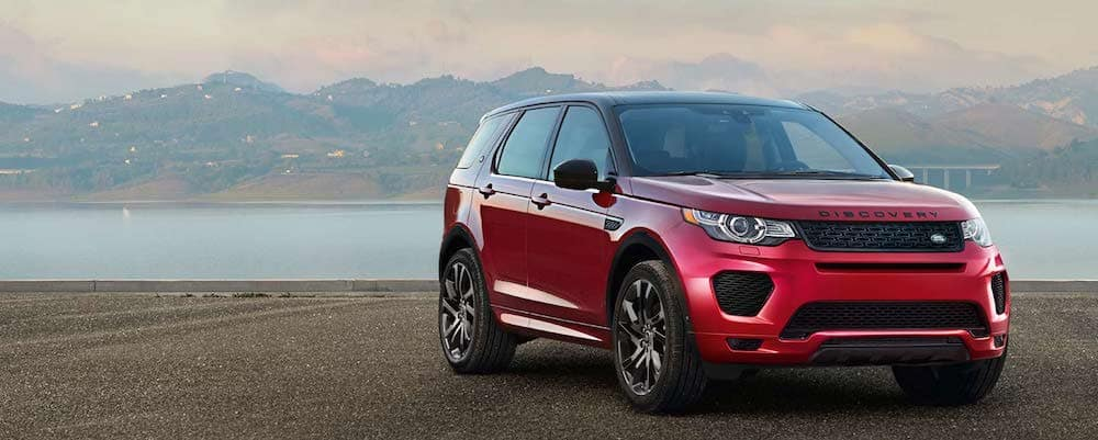 2019 LandRover Discovery Sport in red
