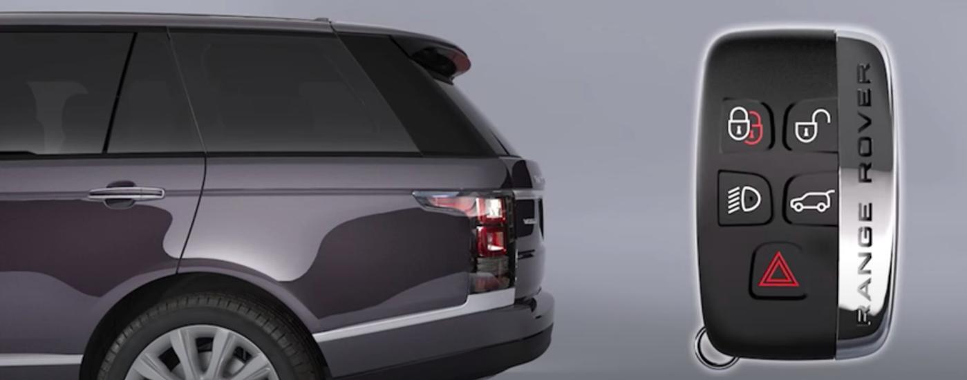 Land Rover key fob near Range Rover