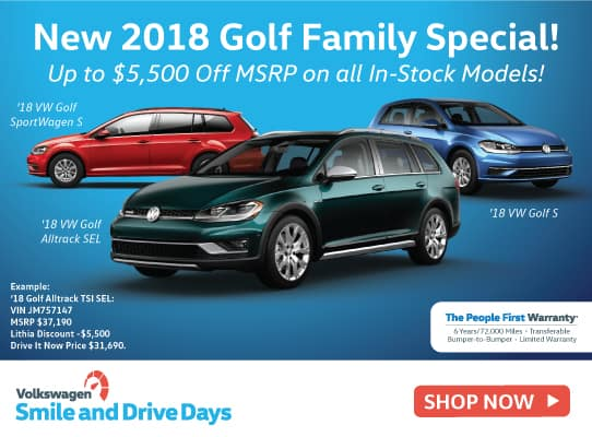 New 2018 Volkswagen Golf Family