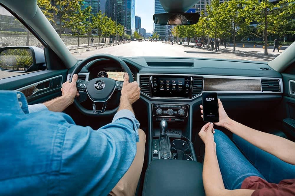 2019 Volkswagen Atlas driver at the wheel