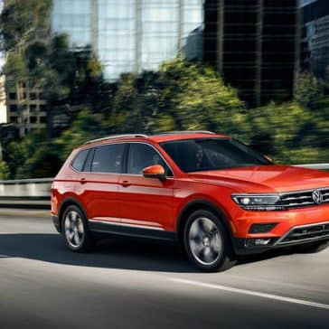 2019 Volkswagen Tiguan on a city drive
