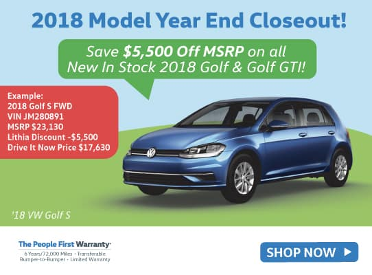 2018 Model Year End Closeout!