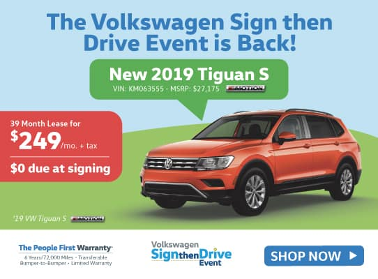 New 2019 Volkswagen Tiguan S with 4MOTION® AWD