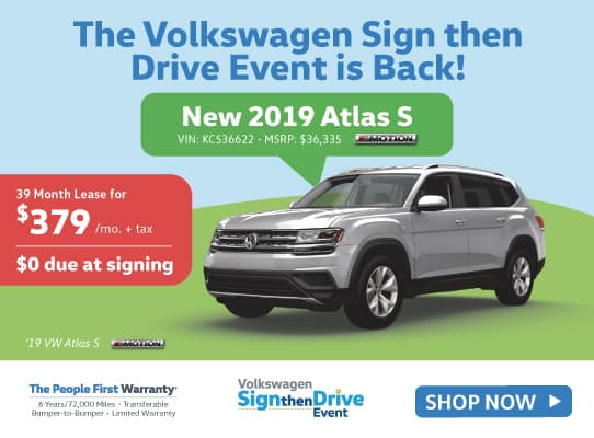 New 2019 Volkswagen Atlas V6 S with 4MOTION® AWD