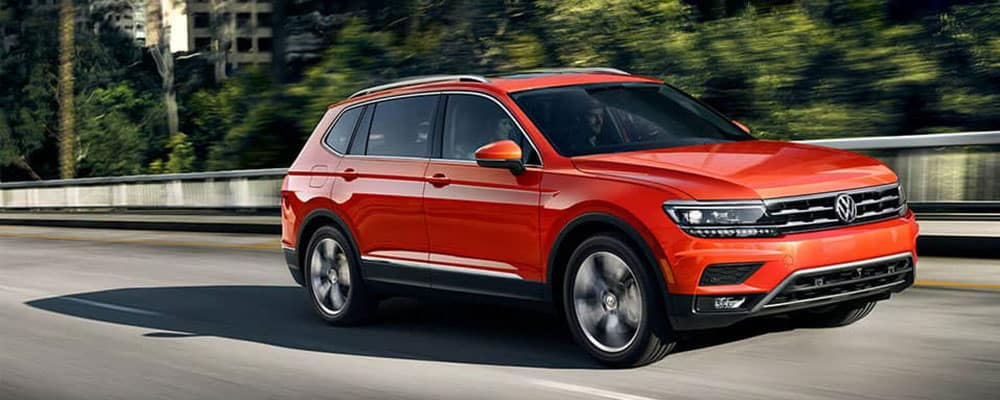 2019 Volkswagen Tiguan on the street