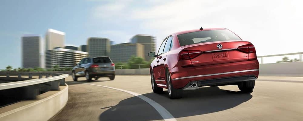2019 Volkswagen Passat on highway