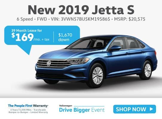 New 2019 Volkswagen Jetta S Manual w/SULEV FWD 4dr Car