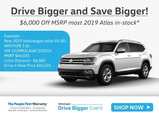 New 2019 Volkswagen Atlas 3.6L V6 SEL 4MOTION AWD
