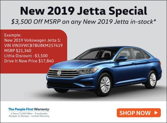 New 2019 Volkswagen Jetta S Auto w/ULEV FWD 4dr Car