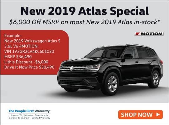New 2019 Volkswagen Atlas 3.6L V6 S 4MOTION AWD